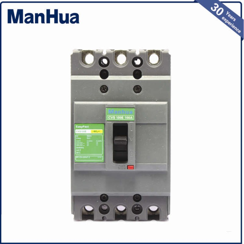 Manhua 2017 Innovative New Product 3P 400V Electrical Miniature Circuit Breaker CVS 400F  Three Phase Relay Protection Voltage new 31624 circuit breaker compact ns250n tmd 100a 3 poles 2d
