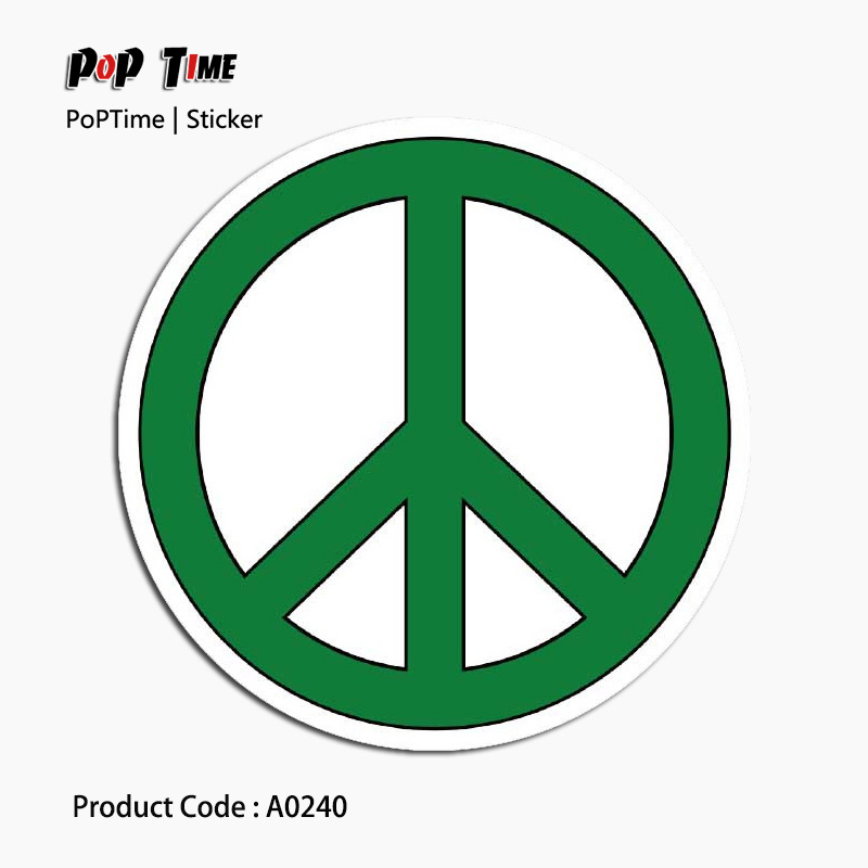 A0240 Peace sign Albums Message Large stickers luggage decoration bedroom living room album cabinet guitar Suitcase refrigerator