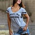 Vessos tee top t-shirt top t-shirt das mulheres 2017 moda profunda pescoço harajuku tumblr frete grátis