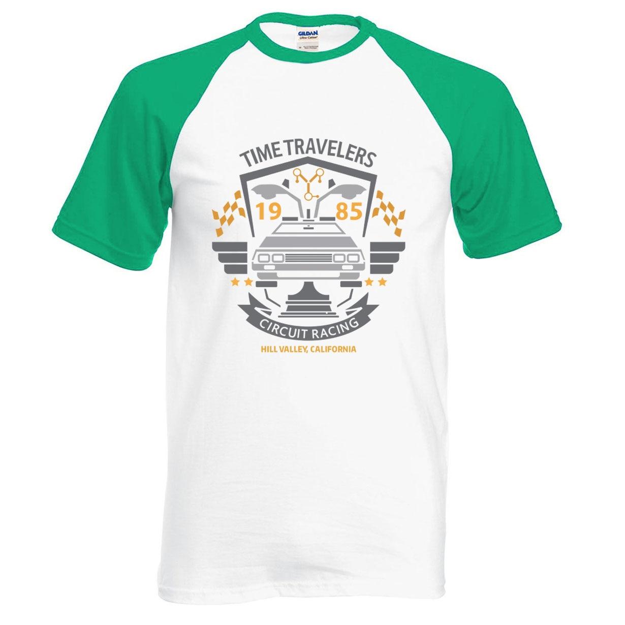 Back to the Future Movie T Shirt 2018 New Summer TV Show Raglan T-Shirts Hip Hop 100% Cotton O-Neck Short Sleeve Tshirt S-XXL