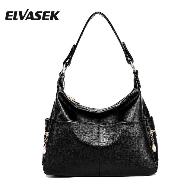 Elvasek Good Women Handbags Messenger Bags Female Bag High Quality Shoulder Handbag Pu Leather Crossbody