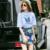 Roupas femininas Definir Linda Mulher 2 Peça Set Top Camisa blusa Saia Ternos Moda Floral Impressão Denim Saias Senhora Definir NS318