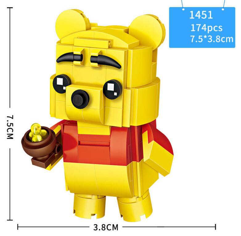 Big mini block fairy tale story Mermaid Snow White เจ้าหญิง Woody Buzz Lightyear Dumbo ช้าง Winnie หมีอิฐของเล่น