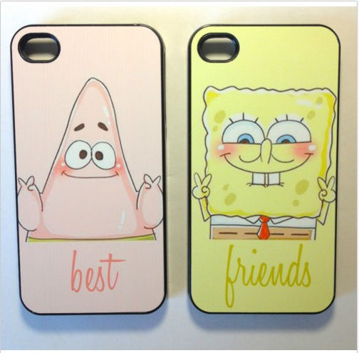 Best Friends Forever BFF Spongebob Plastic Hard Cover Case iPhone 5/5S/5G/5C - J-C Store store