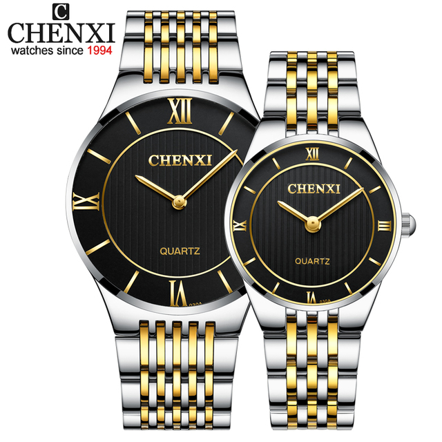 CHENXI Fashion Creative Watches Women Men Quartz-Watch Men's Golden Wrist watche