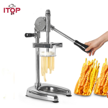 ITOP Manual Potato Ships Squeezer Super Long 30cm French Fries Cutters Machine  Aliminum Alloy Fried Chip Squeezers