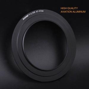 Image 4 - Zomei 67mm 72mm 77mm 82mm anillo adaptador para Zomei Z3 filtro cuadrado soporte de Metal