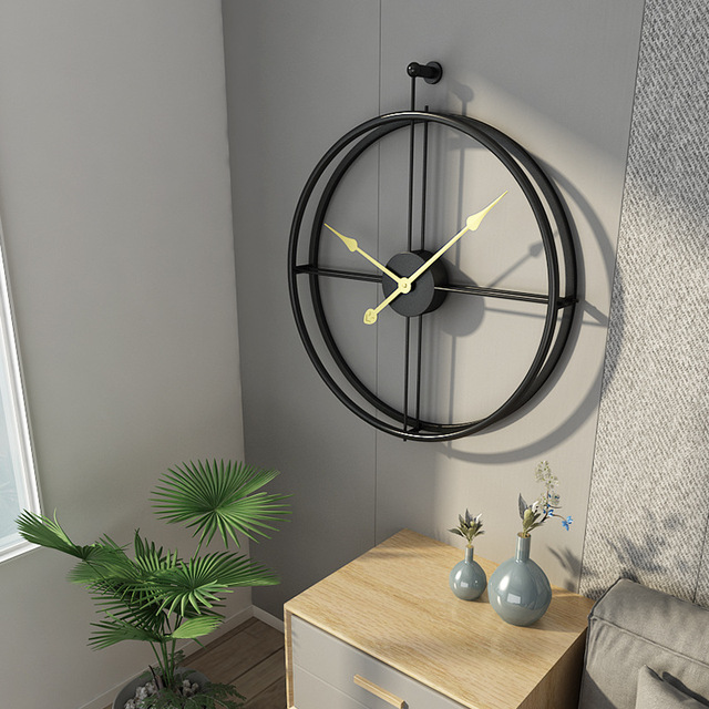 Modern Metal Wall Clock Desainrumahkeren Com