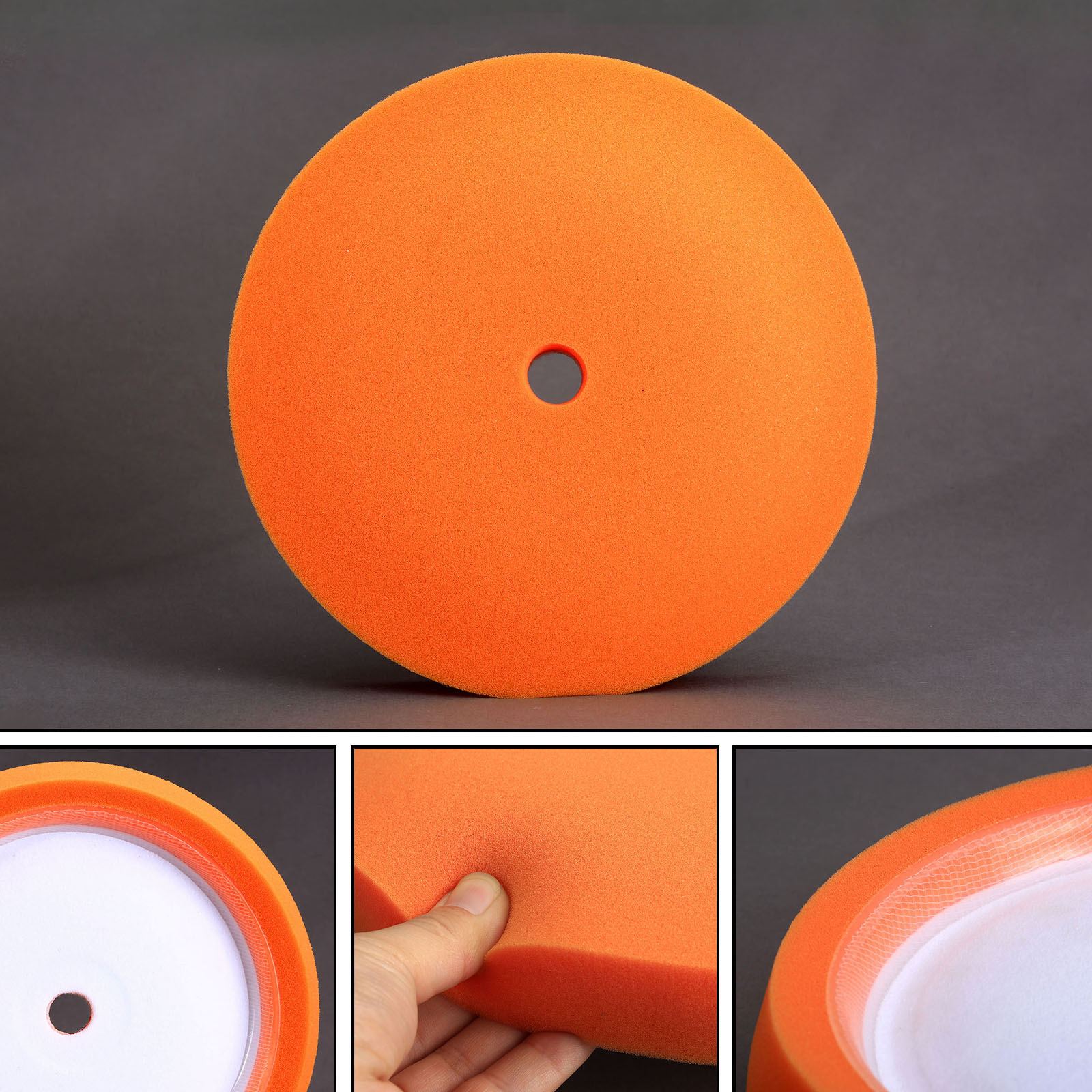 Car Styling 1PC 7 Inch Car Wash Sponge Polishing Foam Buffing Pad Car Cleaning Detailing Waxing Tools For Auto Care Car Polisher