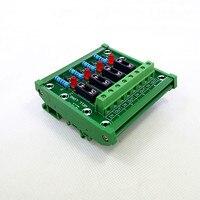 Montaje en carril DIN 4 posición fusible placa del módulo.