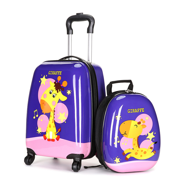6ab295f992d9 BeaSumore Cute Cartoon Children Rolling Luggage Spinner Kid Suitcase Wheels  Trolley Case Cabin Trunk School Bag Carry On Box