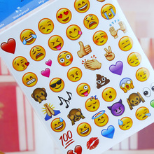 20 sheets/1set Kawaii 48 Die Cut Emoji Smile Stickers Diary Paper Scrapbooking Albums PhotoTag Funny for notebook