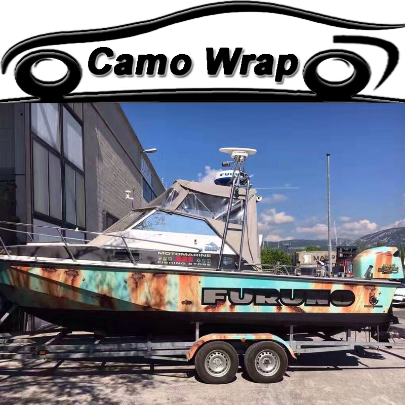 5 10 15 20 25 30 Meters Rusty Camouflage Vinyl Car Wrap Film Air Bubble Free
