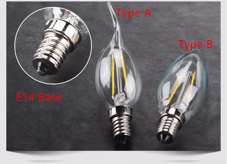 Light Bulbs Free Shipping Vintage Retro Style Dimmable E14 2w 4w Warm White Led Filament Candle Lamp E14 220v Light Bulbs 6pcs/lot Refreshing And Beneficial To The Eyes
