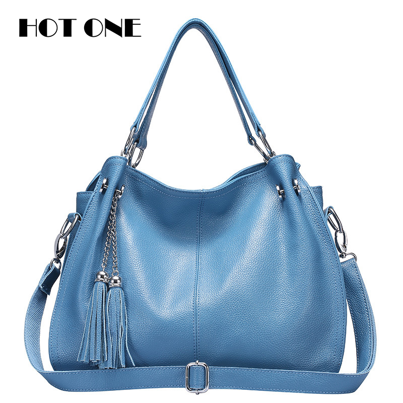 Women Hobos bags 2017 Brand Women Genuine Leather Casual Totes Bags for Women Lu