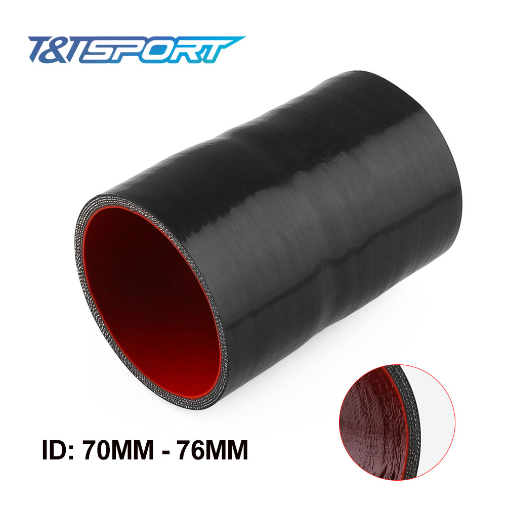 """4PLY 4/"""" ID Straight Turbo Silicone Coupler Hose Intercooler Pipe Tube 3/"""" Long"""
