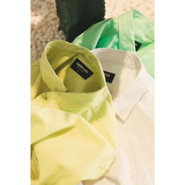 Simwood 綿 100% 古典的なカジュアルな胸ポケット 2020 春夏新高品質シャツ 190068