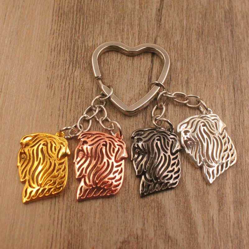 2019 Black Russian Terrier Dog Animal Cute Gold Silver Plated Keychain For Bag Car Women Men Girls Love Jewelry 4 Colors K179