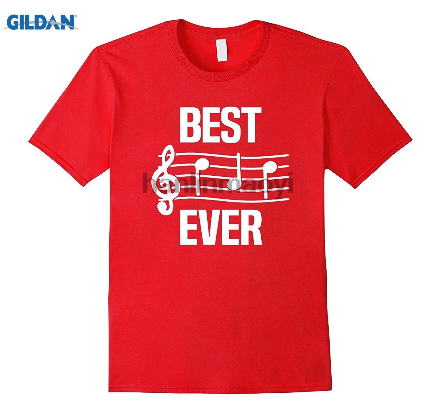 GILDAN Mens Best Dad Ever Music TShirt Notes Funny Fathers Day Gift