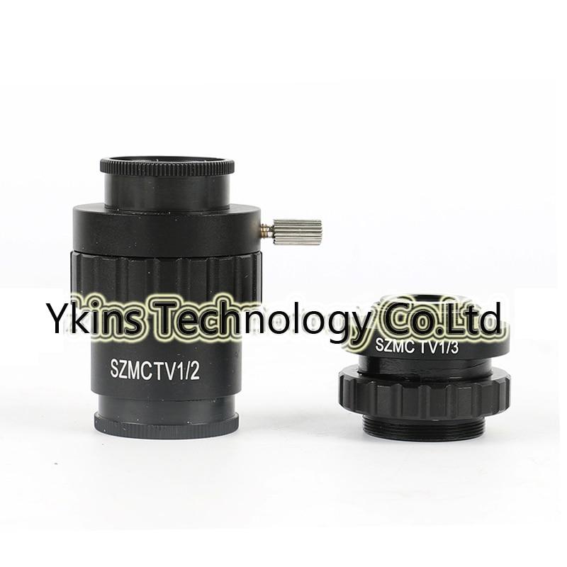 0.3X 0.5X Type C adaptateur de montage pour réduire la distance focale de l'objectif stéréoscope trinoculaire CCD industrie HDMI USB caméra Microscope