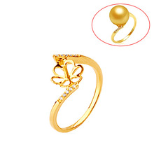 Beadsnice ID29775 real 18k gold wedding rings for women fit