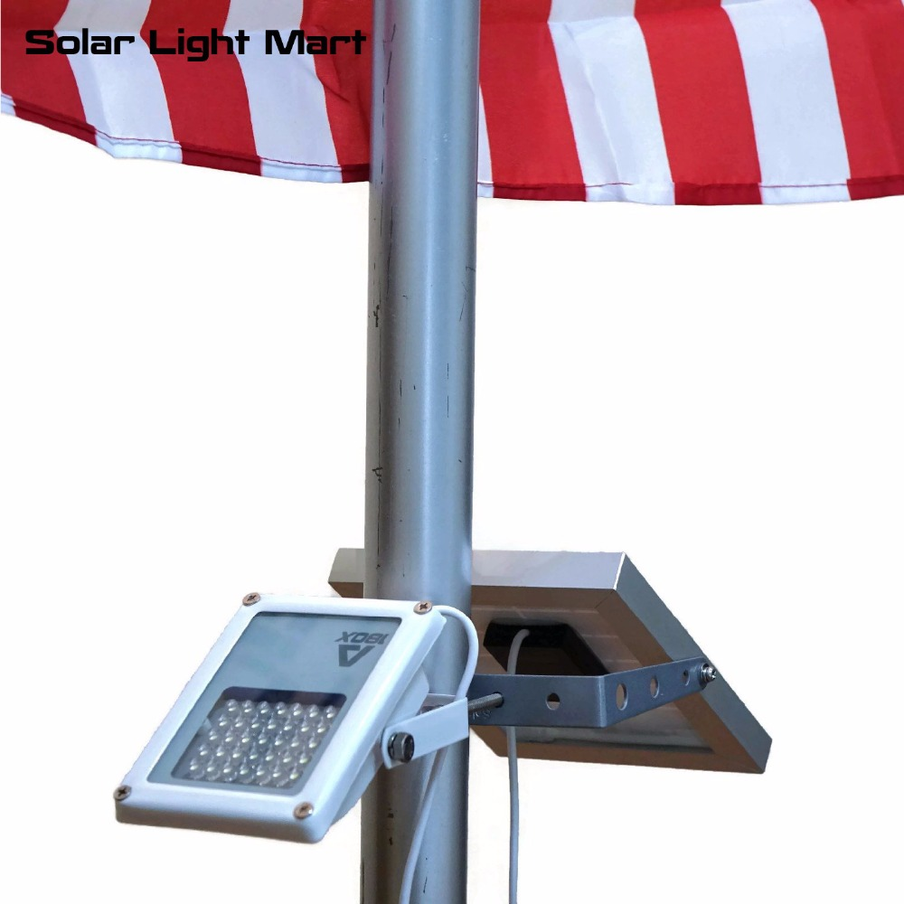 Mini Alpha 180X 35 LED 5m Cable Automatic Waterproof Solar LED Flag Pole Flood Light 3