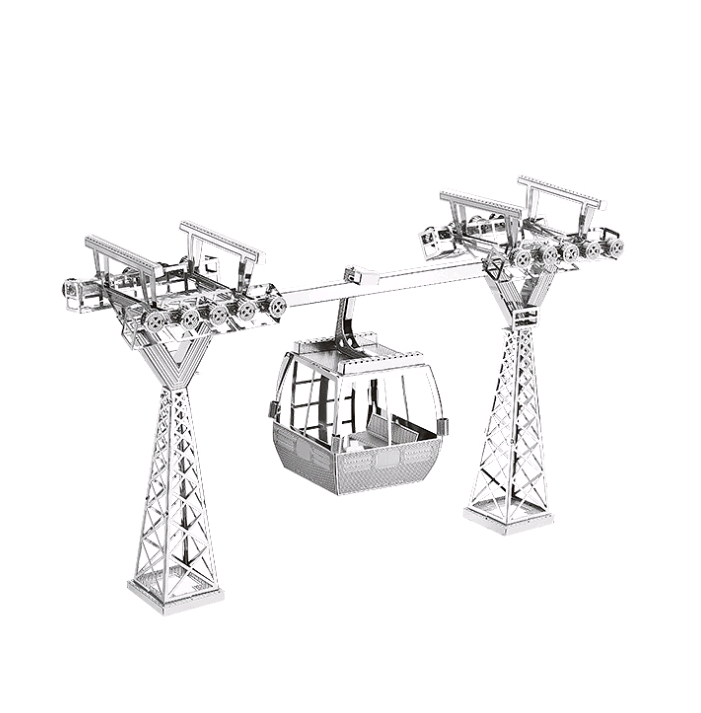 3D Metal Model Puzzle Elevated Cable Car Model Kit Kit DIY Toy Puzzle Adult Puzzle Children Collection Educational Toys Gifts