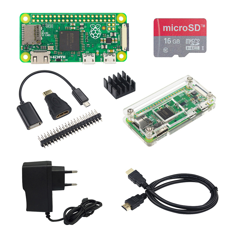 Hot Raspberry Pi Zero 1.3 Starter kit + Acrylic Case + 2A Power Adapter + 16G SD Card + OTG Cable + HDMI Cable for Pi 0 raspberry pi zero 1 3 or raspberry pi zero w starter kit acrylic case gpio header 16g sd card power adapter hdmi cable