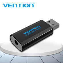 Vention USB External Sound Card USB To AUX Jack 3.5mm Earphone Adapter Audio Mic Sound Card 5.1 Free Drive For Computer Laptop цена