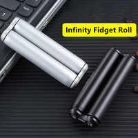 Aluminum Alloy Fidget Roller Spinner Infinity Anti Anxiety Toy Adult Office Toys Finger Decompression Roll Metal Roller