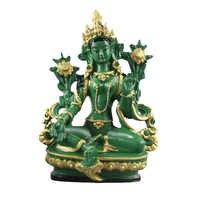 Aprox. 13,5 CM Höhe Grüne Tara Kleine Harz Statuen Tantrischen Statuen Buddha Statue Buddhismus Buddhistischen Figur Figur