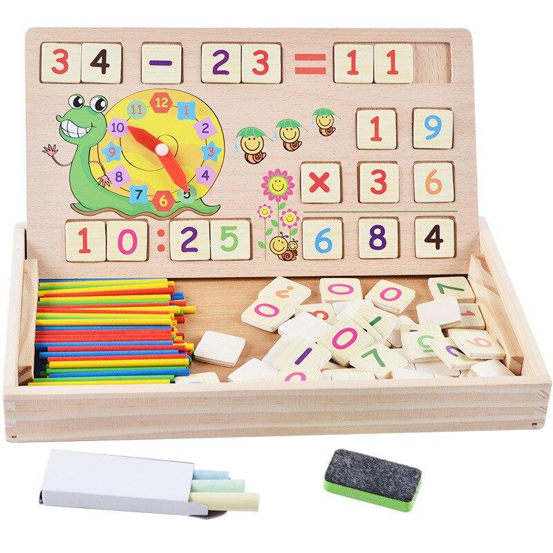 En bois multifonction enfants Animal Puzzle écriture magnétique planche à dessin tableau noir apprentissage éducation jouets pour enfants