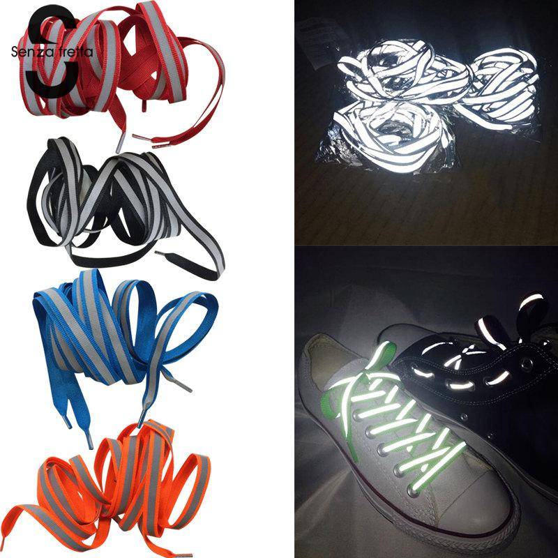 Senza Fretta 120cm Shoe Laces Glow in the Dark Reflective Shoelaces Unisex Shoelace For Sport Canvas Shoe-Laces Luminous StringsSenza Fretta 120cm Shoe Laces Glow in the Dark Reflective Shoelaces Unisex Shoelace For Sport Canvas Shoe-Laces Luminous Strings