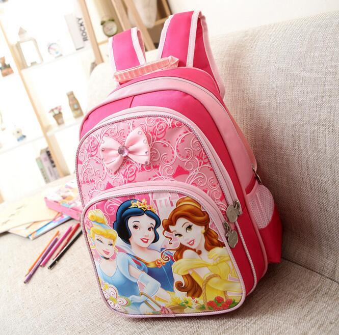 Children cartoon School Bags lovely snow white princess Backpack For Girls Mochila Feminina Princess