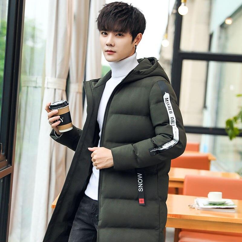 Brand Men's Clothing Winter Warm Jackets Men Cotton Zipper Coat Pocket Zipper Design Casual Fashion Parka Solid Thin Cotton Coat