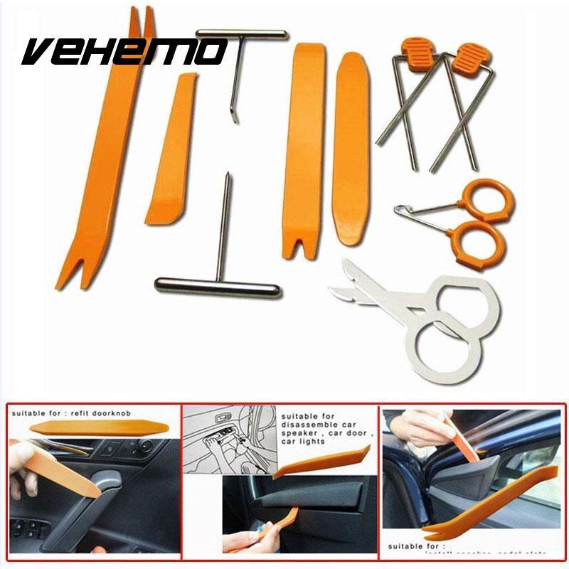Vehemo 12 шт./компл. Портативный автомобиля Авто Панель удаления Инструменты указан PRY установка