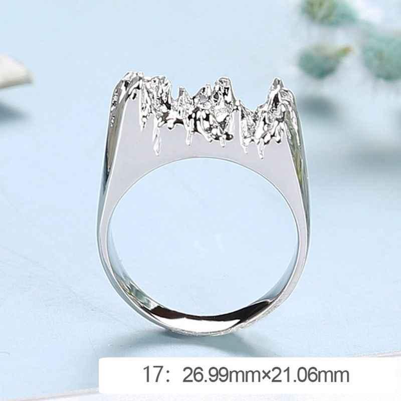 الايبوكسي خاتم الراتنج قالب كسر الفن الراتنج حلقة معدنية DIY بها بنفسك صنع المجوهرات لنا حجم 7-9