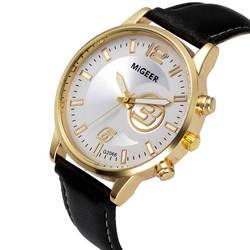 Классические новые мужские роскошные модные брендовые повседневные золотые серебряные wo мужские часы наручные часы кожаный ремешок