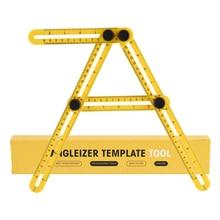 Four-Sided Ruler Measuring Instrument Template Angle-izer Tool Mechanism Slides For Builders Handymen Craftsmen Engineers Gauges