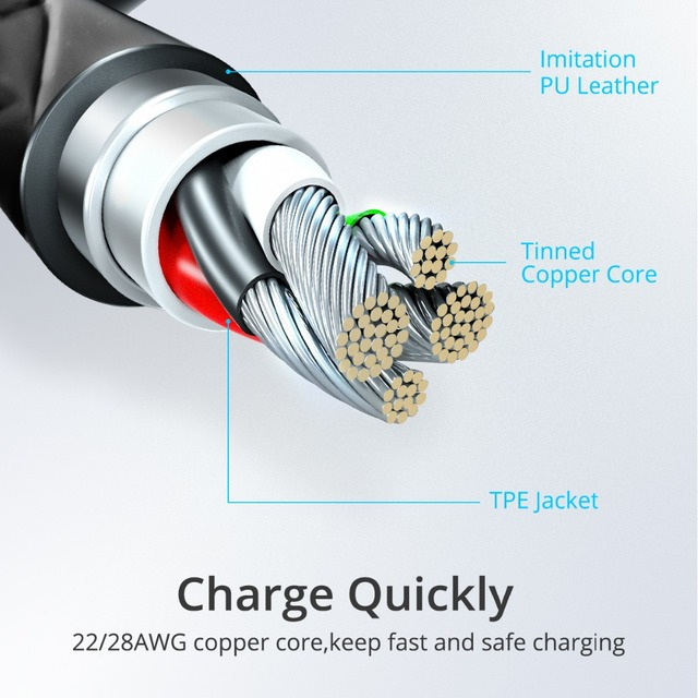 Micro USB Magnetic Cable 3A Fast Charger