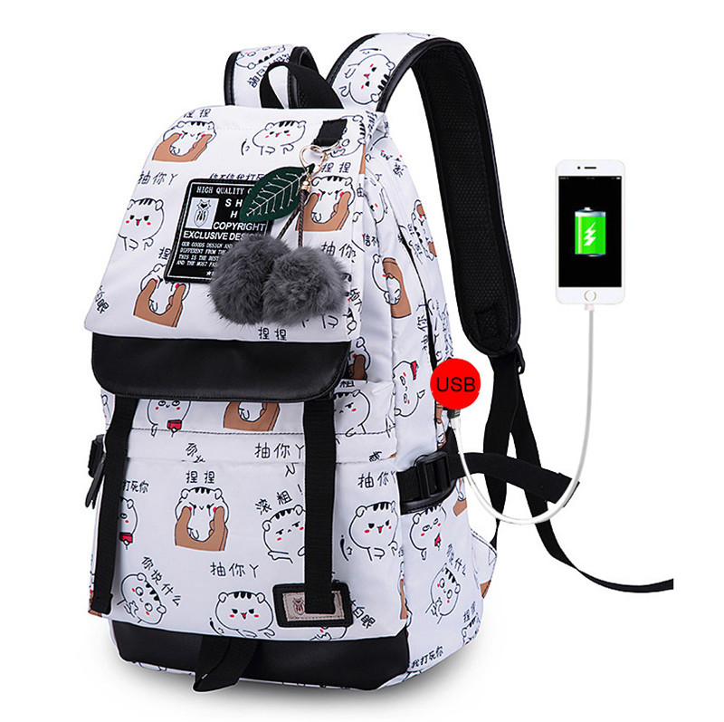 Zhierna Men's Backpack Female Bag With Usb Interface Chinese Expression Culture Series Multi Functiona Practical Shoulder Bag