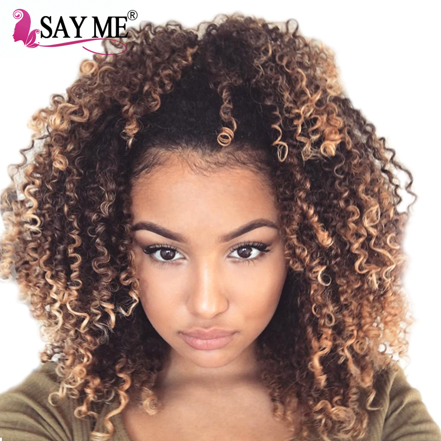 1 PC Ombre Brazilian Kinky Curly Weave Human Hair Bundles T1b/4/27 Non-Remy 3 Tone Ombre Human Hair Extensions Doubt Weft SAY ME