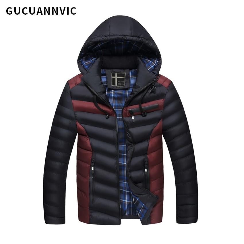 2017 New arrive brand men's cotton coats High quality warm men's cotton padded clothes Detachable cap men coat
