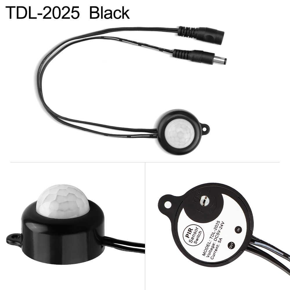 PIR MOTION Sensor Lampu Otomatis On Off untuk Lampu Strip LED Controller Sensor DC12V DC5 ~ 24 V