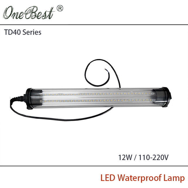 HNTD 12W 110V/220V TD40 Cylindrical Transparent Led Panel Light CNC Machine Tool Waterproof Explosion-proof Light Free shipping