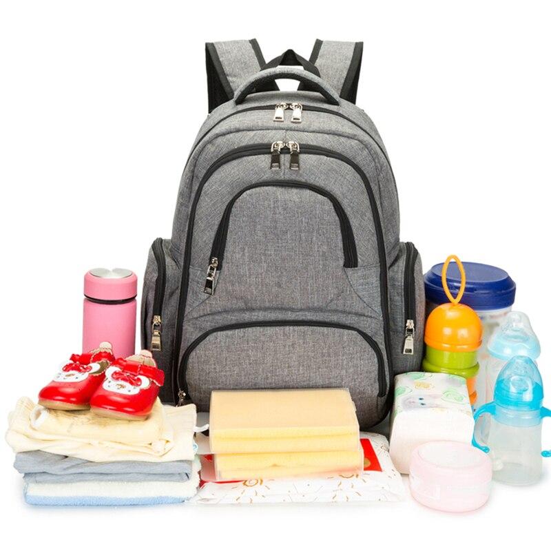 Diaper Bag Fashion Mummy Maternity Nappy Bag Brand Baby Travel Backpack Diaper Organizer Nursing Bag For Baby Stroller 4 Styles