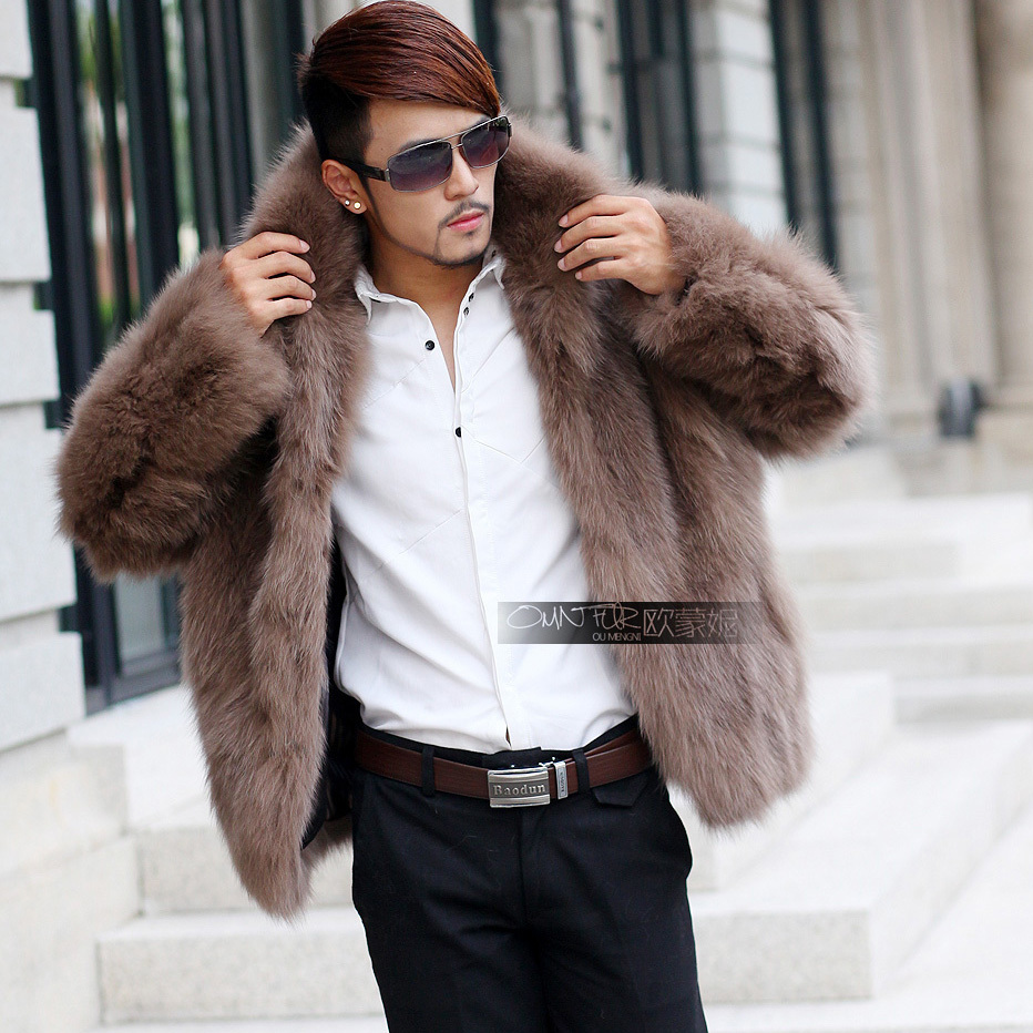 2013 male fox fur coat fur male men's clothing fur coat-in Faux ...
