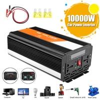 PEAK 10000W Voltage Transformer Car Inverter 12/24V To 220/110V Modified Sine Wave Converter Fuse High Efficiency Automotive