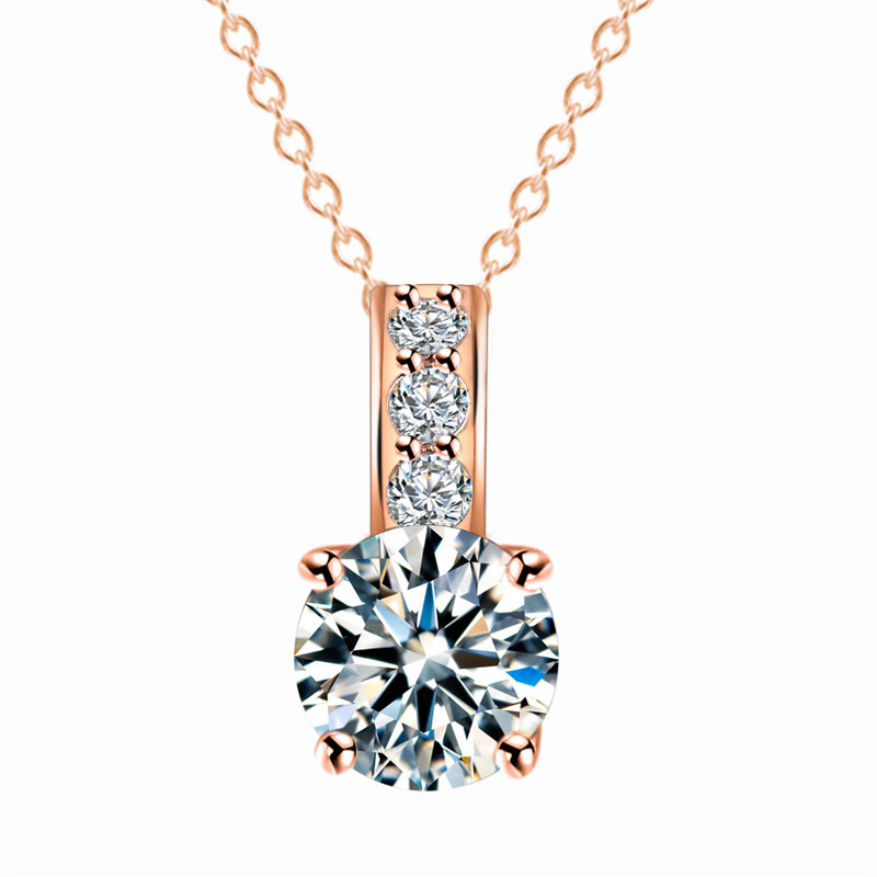 fb381d94226f Shuangr mujeres joyería collar clásico rosa de oro de color austriaco  cristal redondo Colgantes collares al por mayor collares 2015