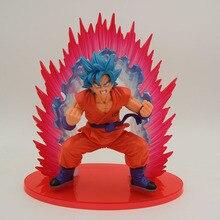 17cm Anime Dragon Ball Z Goku Figure Toy Super Saiyan God Son Gokou PVC Figure Anime Collectible Model toys for gift